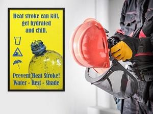 Prevent Heat Stroke Safety Poster