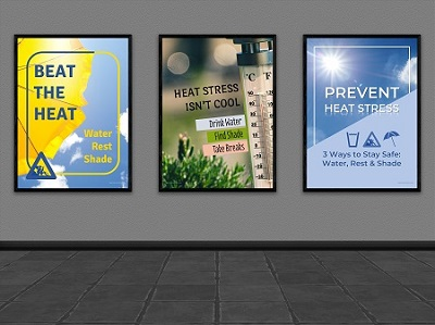 Safety Posters to Prevent Heat Stress