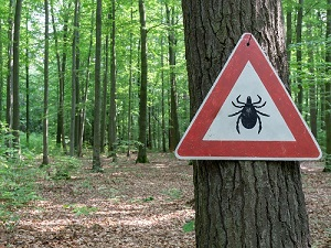 Tick Hazard Sign