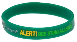 Bee Sting Allergy Medical Alert Bracelet