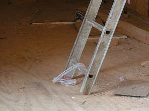 Unsafe Extension Ladder Missing Foot Pads