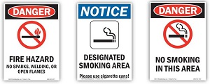 Examples of Fire Prevention Danger Signs