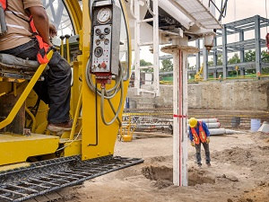 Drilling Hole on Construction Site