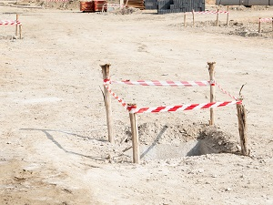 Floor Hole on Construction Site