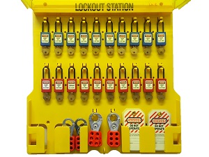 Lockout Station with Assorted Locks and Tags