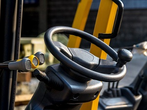 Steering Wheel of a Forklift