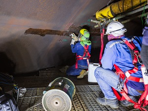 Workers Inside of a Confined Space