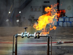 Gas Leak Fire in Industrial Building