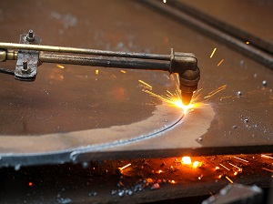 Cutting, Producing Sparks