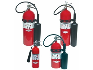 Carbon Dioxide Fire Extinguishers in Various Sizes