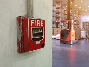 Fire Alarm in Warehouse