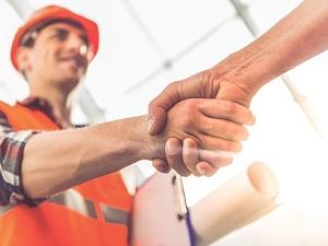 Worker Shaking Hands