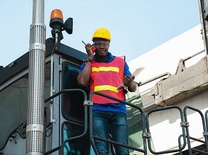 Industrial Worker Wearing PPE