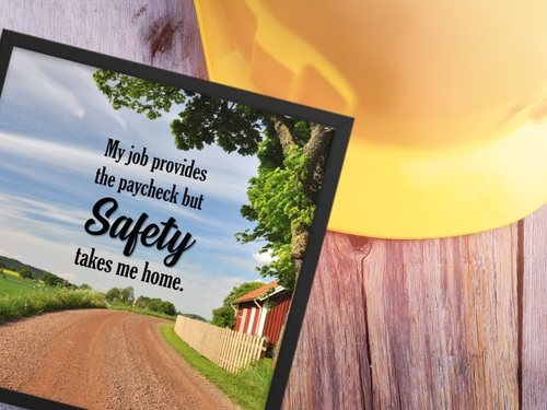 Framed Safety Poster