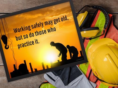 Framed Safety Poster