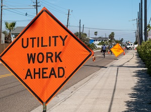 Temporary Utility Work Ahead Sign for Work Zone