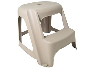 Small plastic step stool.