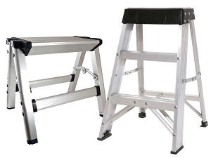 Two kinds of folding step stools.
