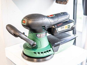 Battery-Powered Sander on Display