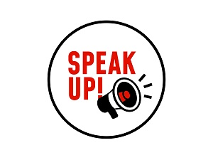Small graphic that says Speak Up!