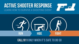 Active Shooter Response Infographic