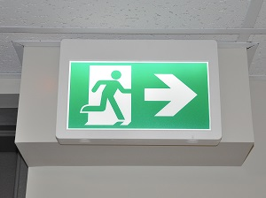 Office Building Exit Sign