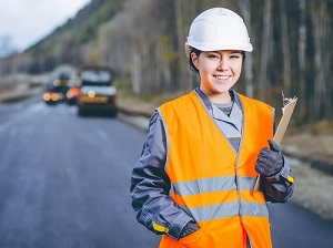 Young Safety Professional at Work Zone