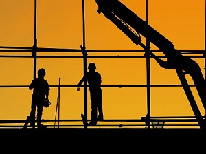 Two Construction Workers on Construction Site