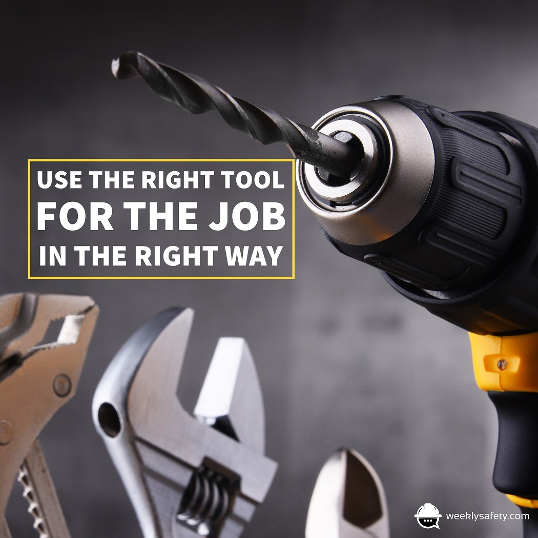 Hand tools and a power drill.