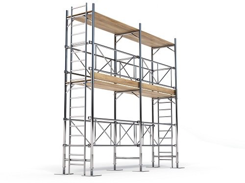Example of a supported scaffold.