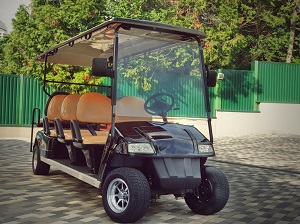 An 8-passenger golf cart.