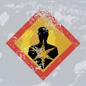 Graphic indicating a health hazard warning.