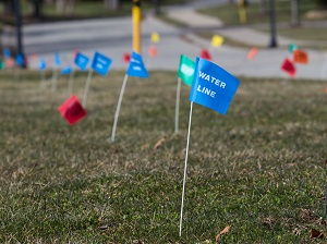 Locate flags in the ground