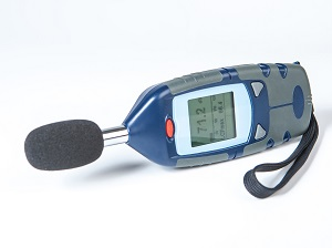 A sound level meter device.