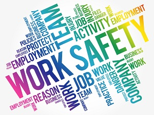Workplace safety word cloud.