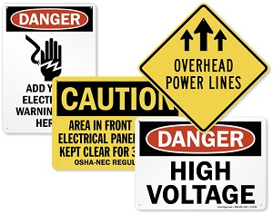 Assorted Electrical Safety Signs