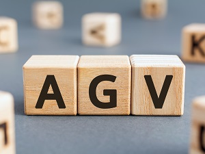 Building blocks that spell out the acronym AGV.