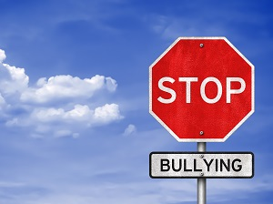 A stop sign graphic that says Stop Bullying.