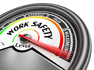 A graphic that shows Work Safety level at Maximum.