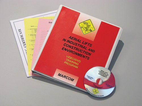 MARCOM's Aerial Lifts in Industrial and Construction Environments DVD Program reviews the various types of aerial lifts, makes employees aware of the hazards that are associated with these lifts, and gives them the information that they'll need to work safely whether they're using a lift or working around one. The DVD program comes with a comprehensive leader's guide, reproducible scheduling & attendance form, employee quiz, training certificate and training log.