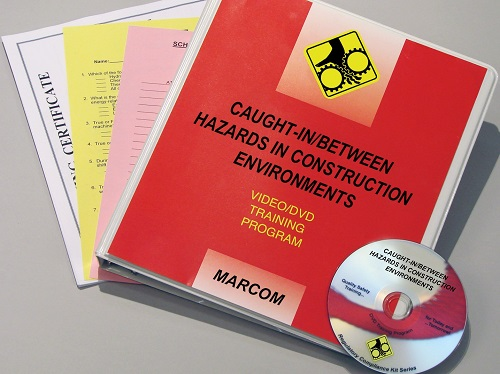 MARCOM's Caught-In/Between Hazards in Construction Environments DVD Program provides the information employees need to recognize the caught-in/between hazards that are associated with construction tasks and avoid them before accidents happen.The DVD program comes with a comprehensive leader's guide, reproducible scheduling & attendance form, employee quiz, training certificate and training log.