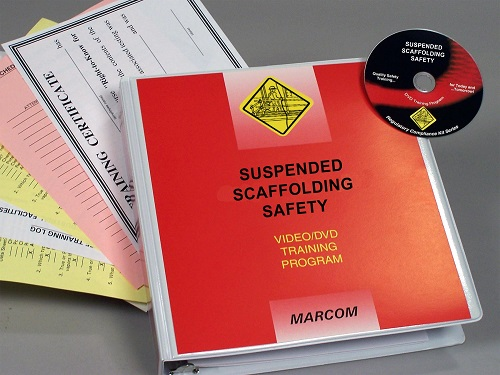 MARCOM's Suspended Scaffolding Safety DVD Program assists facilities of all types in complying with OSHA's Scaffolding regulation (29 CFR 1926.451), and helps employees understand the dangers of working with scaffolds, and how these risks can be minimized by knowing the correct ways to erect, maintain and use scaffolding equipment. The DVD program comes with a comprehensive leader's guide, reproducible scheduling & attendance form, employee quiz, training log and training certificate.
