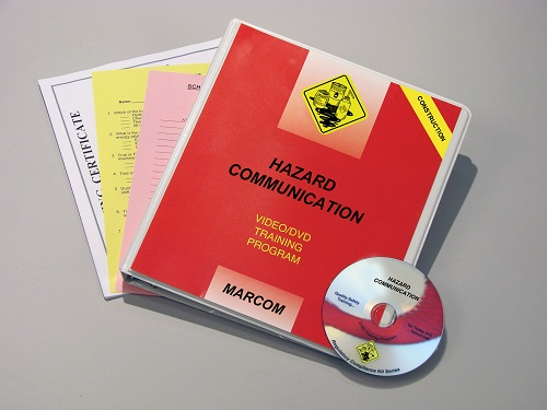 MARCOM's Hazard Communication in Construction Environments DVD Program discusses the requirements of the HAZCOM Standard, the hazards that can be associated with different types of HAZMATs, and what employees can do to avoid these hazards. The DVD program comes with a comprehensive leader's guide, reproducible scheduling & attendance form, employee quiz, training certificate and training log.