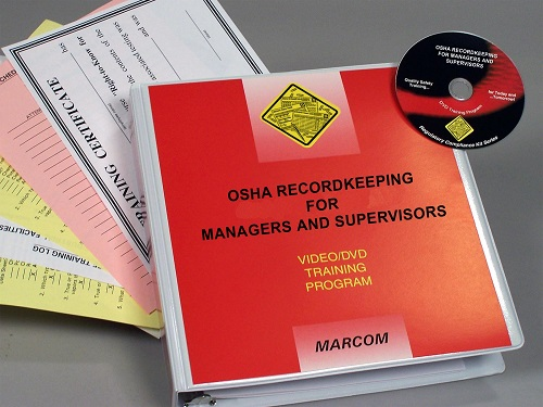 MARCOM's OSHA Recordkeeping for Managers and Supervisors DVD Program discusses the recordkeeping process and what managers and supervisors need to do to comply with the regulation. The DVD program comes with a comprehensive leader's guide, reproducible scheduling & attendance form, employee quiz, training certificate and training log.