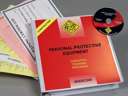 MARCOM's Personal Protective Equipment in Construction Environments DVD Program is specifically designed to help employers in the construction industry meet OSHA requirements. They provide employees with the information that they need to avoid injury on the job site by using appropriate PPE. The DVD program comes with a comprehensive leader's guide, reproducible scheduling & attendance form, employee quiz, training certificate and training log.