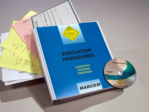 MARCOM's Evacuation Procedures DVD Program provides the information employees need to learn what steps to take to act quickly and safely during an evacuation. The DVD program comes with a comprehensive leader's guide, reproducible scheduling & attendance form, employee quiz, training certificate and training log.