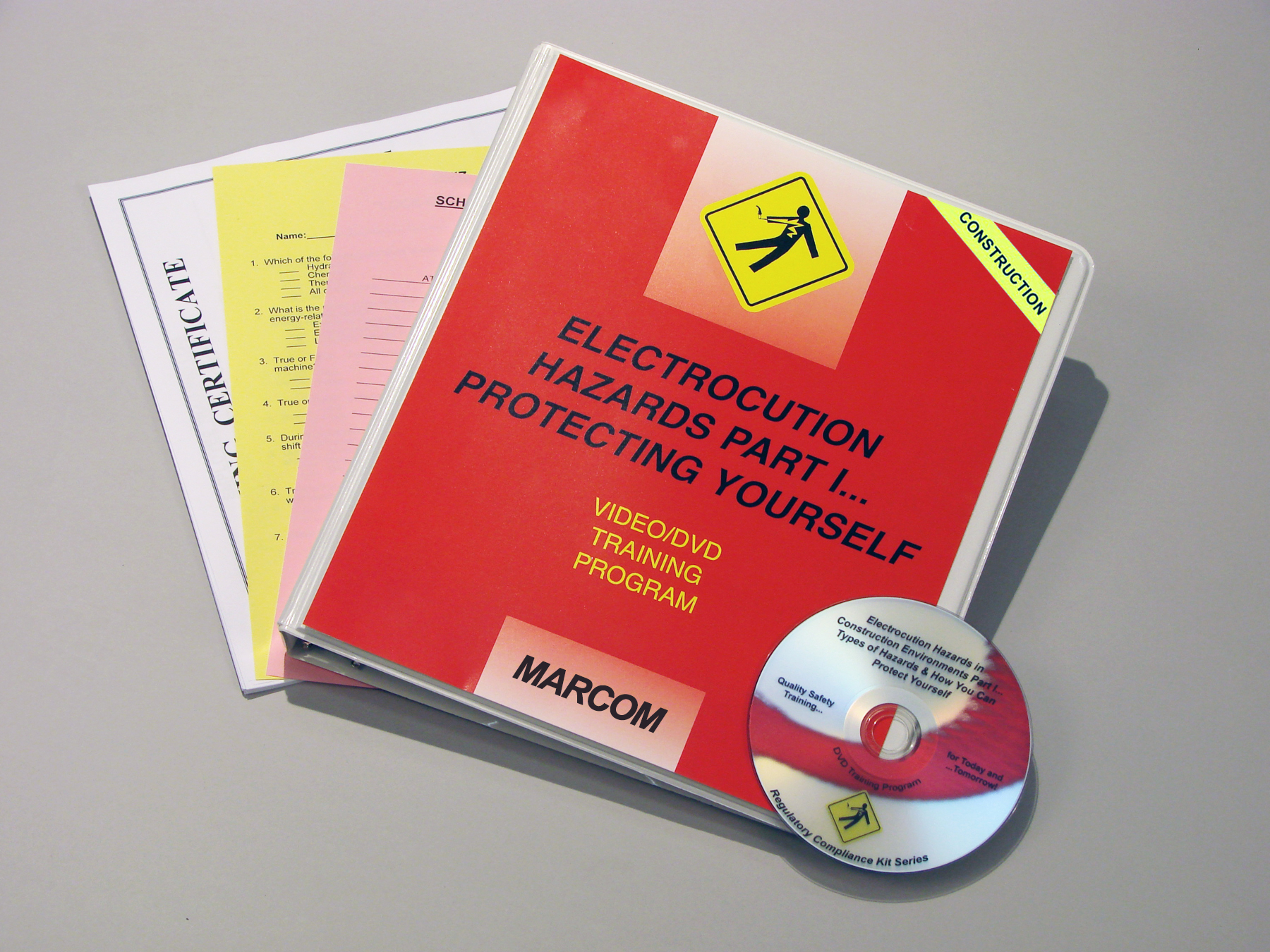 The first in a two-part series on electrocution hazards, MARCOM's Electrocution Hazards Part I: Worksite Safety DVD Program discusses the electrical hazards that can be found on a job site, the OSHA standards that have been established to protect workers from them, and what employees should do to avoid accidents and injuries involving electricity. The DVD program comes with a comprehensive leader's guide, reproducible scheduling & attendance form, employee quiz, training certificate and training log.