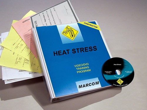 MARCOM's Heat Stress in Construction Environments DVD Program discusses the hazards of getting overheated, how employees can avoid heat-related illnesses and what they should do if a coworker suffers from heat stress. The DVD program comes with a comprehensive leader's guide, reproducible scheduling & attendance form, employee quiz, training certificate and training log.