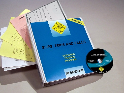 MARCOM's Slips, Trips and Falls in Construction Environments DVD Program discusses the mechanics of slips, trips and falls, the types of hazards that workers are likely to encounter on a job site that lead to them, and the safe practices and equipment that they can use to stay safely on their feet. The DVD program comes with a comprehensive leader's guide, reproducible scheduling & attendance form, employee quiz, training certificate and training log.