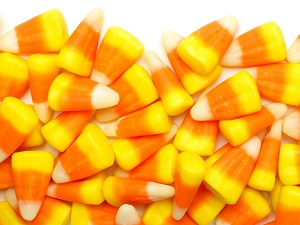 A pile of candy corn.